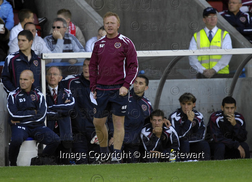 28/08/2007       Copyright Pic: James Stewart.File Name : sct_jspa11_stirling_v_hearts.STEVIE FRAIL SHOUTS HIS INSTRUCTIONS AS HEARTS STRUGGLE TO BREAK DOWN STIRLING....James Stewart Photo Agency 19 Carronlea Drive, Falkirk. FK2 8DN      Vat Reg No. 607 6932 25.Office     : +44 (0)1324 570906     .Mobile   : +44 (0)7721 416997.Fax         : +44 (0)1324 570906.E-mail  :  jim@jspa.co.uk.If you require further information then contact Jim Stewart on any of the numbers above........