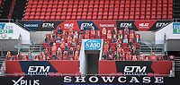 28th June 2020; Ashton Gate Stadium, Bristol, England; English Football League Championship Football, Bristol City versus Sheffield Wednesday; The home corner at Ashton Gate with virtual fans