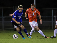 The number 24 ranked Furman Paladins took on the number 20 ranked Clemson Tigers in an inter-conference game at Clemson's Riggs Field.  Furman defeated Clemson 2-1.  Kevin Pahl (14), Iain Smith (9)