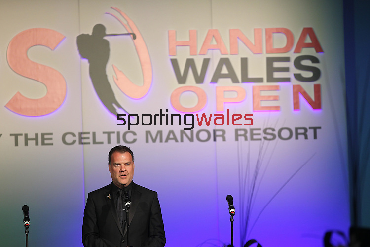 ISPS Handa Wales Open 2012.Welsh opera star Bryn Terfel performing at the gala dinner..29.05.12.©Steve Pope