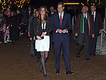 Prince William and Kate Middleton arrive at the Thursford Christmas Spectacular  show at the Thursford collection, Norfolk. Their first public appearance since the announcement their engagement.