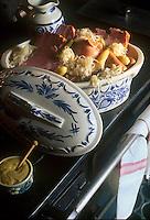 """Europe/France/Alsace/68/Haut-Rhin/Eguisheim: La Choucroute Alsacienne au restaurant """"le Caveau d'Eguisheim"""""""