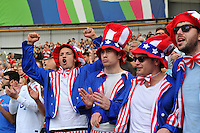 USA fans in the crowd show their support. Rugby World Cup Pool B match between Samoa and the USA on September 20, 2015 at the Brighton Community Stadium in Brighton, England. Photo by: Patrick Khachfe / Onside Images