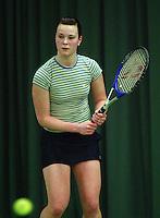 10-3-06, Netherlands, tennis, Rotterdam, National indoor junior tennis championchips, Stefanie Post