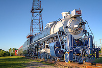 The Frisco Meteor 4500 Steam Engine at the Route 66 Village in Tulsa Oklahom.<br /> <br /> The World&rsquo;s Tallest Oil Derrick<br /> Standing next to the tracks a steel reminder of the Oil Boom that made Tulsa the &ldquo;Oil Capitol of the World&rdquo; rises 154 feet in the air...with the historic site of that first oil strike on June 25, 1901