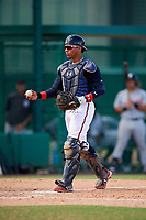 Atlanta Braves William Contreras (5) during an Instructional League game against the Detroit Tigers on October 10, 2017 at the ESPN Wide World of Sports Complex in Orlando, Florida.  (Mike Janes/Four Seam Images)