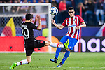 Jorge Resurreccion Merodio, Koke, (r) of Atletico de Madrid battles for the ball with Charles Aranguiz of Bayer 04 Leverkusen during their 2016-17 UEFA Champions League Round of 16 second leg match between Atletico de Madrid and Bayer 04 Leverkusen at the Estadio Vicente Calderon on 15 March 2017 in Madrid, Spain. Photo by Diego Gonzalez Souto / Power Sport Images