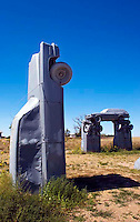 Carhenge is a replica of Stonehenge built with old cars by Jim Reinders in Alliance Nebraska