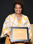 Charly Evon Simpson  during the Vineyard Theatre's Emerging Artists Luncheon honoring Charly Evon Simpson with the Paula Vogel Playwriting Award at the National Arts Club on November 25, 2019 in New York City.