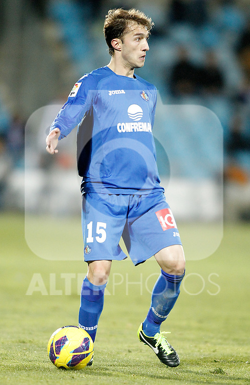 Getafe's Rafa Lopez during La Liga match. February 01, 2013. (ALTERPHOTOS/Alvaro Hernandez)