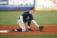 Second Baseman Cash Case (16) of The First Academy in Mt. Dora, Florida playing for the Tampa Bay Rays scout team during the East Coast Pro Showcase on August 3, 2016 at George M. Steinbrenner Field in Tampa, Florida.  (Mike Janes/Four Seam Images)