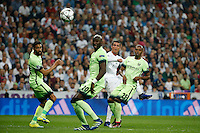 Real Madrid´s Portuguese forward Cristiano Ronaldo<br /> during the UEFA Champions League match between Real Madrid and Manchester City at the Santiago Bernabeu Stadium in Madrid, Wednesday, May 4, 2016.