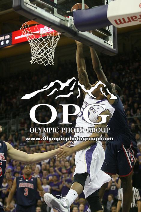 Jan 31, 2013:  Washington's Desmond Simmons against Arizona.  Arizona defeated Washington 57-53 at Alaska Airlines Arena Seattle, Washington...