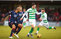 1st December 2019; Global Energy Stadium, Dingwall, Highland, Scotland; Scottish Premiership Football, Ross County versus Celtic; Lewis Morgan of Celtic brings the ball forward from Liam Fontaine of Ross County - Editorial Use