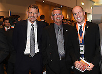 Fred de Jong and guests. Official Draw for the FIFA U 20 Football World Cup, New Zealand 2015. Sky City, Auckland. Tuesday 10 February 2015. Copyright photo: Andrew Cornaga / www.photosport.co.nz