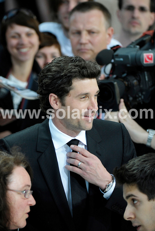 **ALL ROUND PICTURES FROM SOLARPIX.COM**.**SYNDICATION RIGHTS FOR UK AND SPAIN ONLY**.Celebs attend the premiere of the movie 'Made Of Honor' in Berlin, Germany. 13th May 2008..This pic: Patrick Dempsey..JOB REF: 6395 CPR/Stephan Schraps.DATE: 13_05_2008.**MUST CREDIT SOLARPIX.COM OR DOUBLE FEE WILL BE CHARGED* *UNDER NO CIRCUMSTANCES IS THIS IMAGE TO BE REPRODUCED FOR ANY ONLINE EDITION WITHOUT PRIOR PERMISSION*