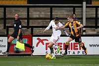 Brad Halliday of Cambridge United gets to grips with Kayden Jackson of Accrington Stanley during Cambridge United vs Accrington Stanley, Sky Bet EFL League 2 Football at the Cambs Glass Stadium on 11th November 2017