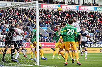 Bolton Wanderers' Marc Wilson heads over the cross bar <br /> <br /> Photographer Andrew Kearns/CameraSport<br /> <br /> The EFL Sky Bet Championship - Bolton Wanderers v Preston North End - Saturday 9th February 2019 - University of Bolton Stadium - Bolton<br /> <br /> World Copyright &copy; 2019 CameraSport. All rights reserved. 43 Linden Ave. Countesthorpe. Leicester. England. LE8 5PG - Tel: +44 (0) 116 277 4147 - admin@camerasport.com - www.camerasport.com