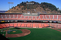 SAN FRANCISCO, CA - General overall stadium view of the home of the San Francisco Giants, Candlestick Park before the San Francisco Giants game against the Cincinnati Reds in San Francisco, California on September 27, 1992. (Photo by Brad Mangin)