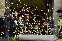 BOGOTA -COLOMBIA. 22-04-2014. Mariposas amarillas al final del homenaje póstumo al Nobel de Literatura, Gabriel García Marquez, hoy en la Plaza de Bolivar de Bogotá. García Marquez murió a los 87 años de edad en ciudad de México el pasado 17 de abril de 2014. / Yellow butterflires at the end of posthumous tribute to  Colombian Nobel Prize-Winning Author Gabriel Garcia Marquez at Plaza de Bolivar in Bogota, Colombia. Garcia Marquez died at 87 in Mexico city the last April 17 of 2014.   Photo: VizzorImage/Gabriel Aponte/ Str