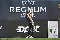 Jason Scrivener (AUS) tees off the 18th tee during Sunday's Final Round of the 2018 Turkish Airlines Open hosted by Regnum Carya Golf &amp; Spa Resort, Antalya, Turkey. 4th November 2018.<br /> Picture: Eoin Clarke | Golffile<br /> <br /> <br /> All photos usage must carry mandatory copyright credit (&copy; Golffile | Eoin Clarke)