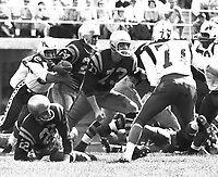 Johnny Bright and Jim Letcavitis Edmonton Eskimos 1961. Copyright photograph Ted Grant