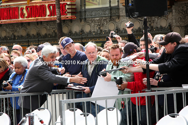 Jay Leno .at the ceremony where Russell Crowe Receives a Star on the Hollywood Walk of Fame.Kodak Theater.Los Angeles, CA.April 12, 2010.©2010 Kathy Hutchins / Hutchins Photo...