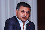 SoftBank Group president and COO Nikesh Arora attends a press conference on May 10, 2016, Tokyo, Japan. SoftBank announced a 8.8% profit rise in the just-ended fiscal year and reported profit of 999.5 billion yen ($9.19 billion) in the year ending in March 31 from 918.7 billion yen posted the year prior. (Photo by Rodrigo Reyes Marin/AFLO)