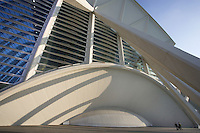 Museum of Sciences Principe Felipe (Detail), 40,000 square meters devoted to bringing science and technology closer to the public, City of Arts and Sciences, Valencia, Comunidad Valenciana, Spain ; 2000 ; Santiago Calatrava (Valencia, Spain, 1951) Picture by Manuel Cohen