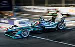 Nelson Piquet Jr of Brazil from Panasonic Jaguar Racing competes in the FIA Formula E Hong Kong E-Prix Round 1 at the Central Harbourfront Circuit on 02 December 2017 in Hong Kong, Hong Kong. Photo by Marcio Rodrigo Machado / Power Sport Images