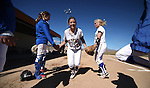Western's Lindsey Ashbaugh gets introduced at the beginning of a doubleheader against Colorado Northwestern Community College at Edmonds Sports Complex in Carson City,Nev., on Friday, Feb. 21, 2014.<br /> Photo by Cathleen Allison/Nevada Photo Source