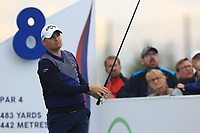 James Morrison (ENG) on the 8th tee during Round 3 of the D+D Real Czech Masters at the Albatross Golf Resort, Prague, Czech Rep. 02/09/2017<br /> Picture: Golffile | Thos Caffrey<br /> <br /> <br /> All photo usage must carry mandatory copyright credit     (&copy; Golffile | Thos Caffrey)
