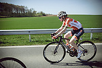 Race favourite Anna Van Der Breggen (NED) Boels Dolmans Cycling Team in action during La Fleche Wallonne Femmes 2018 running 118.5km from Huy to Huy, Belgium. 18/04/2018.<br /> Picture: ASO/Thomas Maheux | Cyclefile.<br /> <br /> All photos usage must carry mandatory copyright credit (&copy; Cyclefile | ASO/Thomas Maheux)