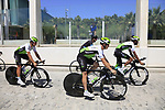 Team Dimension Data riders recon the course before Stage 1 of the La Vuelta 2018, an individual time trial of 8km running around Malaga city centre, Spain. 25th August 2018.<br /> Picture: Eoin Clarke | Cyclefile<br /> <br /> <br /> All photos usage must carry mandatory copyright credit (© Cyclefile | Eoin Clarke)