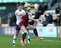 Emma Mitchell of Tottenham Hotspur women and Alisha Lehmann of West Ham United women during Tottenham Hotspur Women vs West Ham United Women, Barclays FA Women's Super League Football at the Hive Stadium on 12th January 2020
