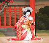 Kabuki <br /> featuring Ebizo Ichikawa XI<br /> at Sadler's Wells, London, Great Britain <br /> rehearsal <br /> 3rd June 2010 <br /> <br /> Nakamura Shibajaku (as Shizauka)<br /> <br /> <br /> Photograph by Elliott Franks