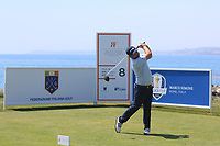 Andy Sullivan (ENG) on the 8th tee during Round 3 of the Rocco Forte Sicilian Open 2018 played at Verdura Resort, Agrigento, Sicily, Italy on Saturday 12th May 2018.<br /> Picture:  Thos Caffrey / www.golffile.ie<br /> <br /> All photo usage must carry mandatory copyright credit (&copy; Golffile   Thos Caffrey)