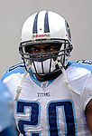24 December 2006: Tennessee Titans running back Travis Henry heads onto the field prior to a game against the Buffalo Bills at Ralph Wilson Stadium in Orchard Park, New York. The Titans edged out the Bills 30-29.&amp;#xA; &amp;#xA;Mandatory Photo Credit: Ed Wolfstein Photo<br />