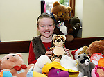 Caroline Wall selling soft toys at the Sale of Work in St. Mary's Parish Hall in Julianstown. Photo: Andy Spearman.