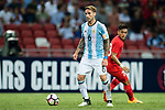 Lucas Biglia of Argentina in action during the International Test match between Argentina and Singapore at National Stadium on June 13, 2017 in Singapore. Photo by Marcio Rodrigo Machado / Power Sport Images