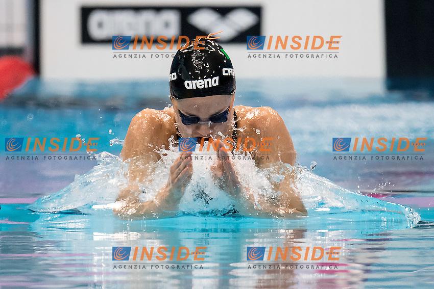 CARRARO Martina ITA Italy<br /> 100 breaststroke women<br /> London, Queen Elizabeth II Olympic Park Pool <br /> LEN 2016 European Aquatics Elite Championships <br /> Swimming day 02 finals<br /> Day 09 17-05-2016<br /> Photo Giorgio Scala/Deepbluemedia/Insidefoto