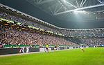 Solna 2014-08-13 Fotboll Allsvenskan AIK - Djurg&aring;rdens IF :  <br /> Vy &ouml;ver Friends Arena under matchen med publik p&aring; l&auml;ktarna<br /> (Foto: Kenta J&ouml;nsson) Nyckelord:  AIK Gnaget Friends Arena Allsvenskan Derby Djurg&aring;rden DIF supporter fans publik supporters inomhus interi&ouml;r interior