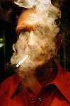Smokey atmosphere with rocker musician Steve Hooker.<br /> <br /> &copy;&nbsp;Hazel Thompson
