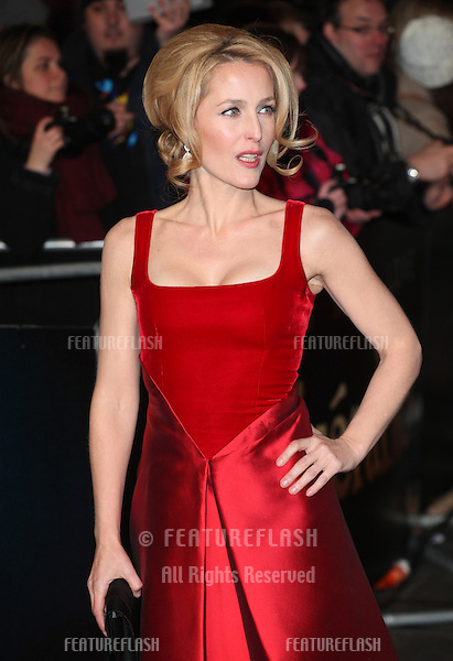 Gillian Anderson arriving for the premiere of 'Les Miserables' at Leicester Square, London. 05/12/2012 Picture by: Alexandra Glen / Featureflash