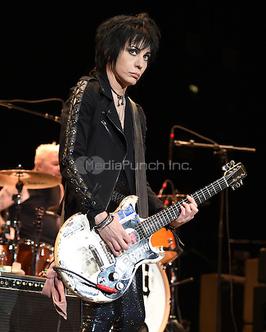 JACKSONVILLE, FL - APRIL 19: Joan Jett in concert at the Jacksonville Veterans Memorial Arena on April 19, 2015 in Jacksonville, Florida. Credit: mpi04/MediaPunch