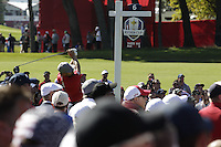 Ryan Moore (Team USA) on the 6th tee during the Friday afternoon Fourball at the Ryder Cup, Hazeltine national Golf Club, Chaska, Minnesota, USA.  30/09/2016<br /> Picture: Golffile | Fran Caffrey<br /> <br /> <br /> All photo usage must carry mandatory copyright credit (&copy; Golffile | Fran Caffrey)