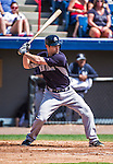 11 March 2014: New York Yankees infielder Scott Sizemore in action during a Spring Training game against the Washington Nationals at Space Coast Stadium in Viera, Florida. The Nationals defeated the Yankees 3-2 in Grapefruit League play. Mandatory Credit: Ed Wolfstein Photo *** RAW (NEF) Image File Available ***
