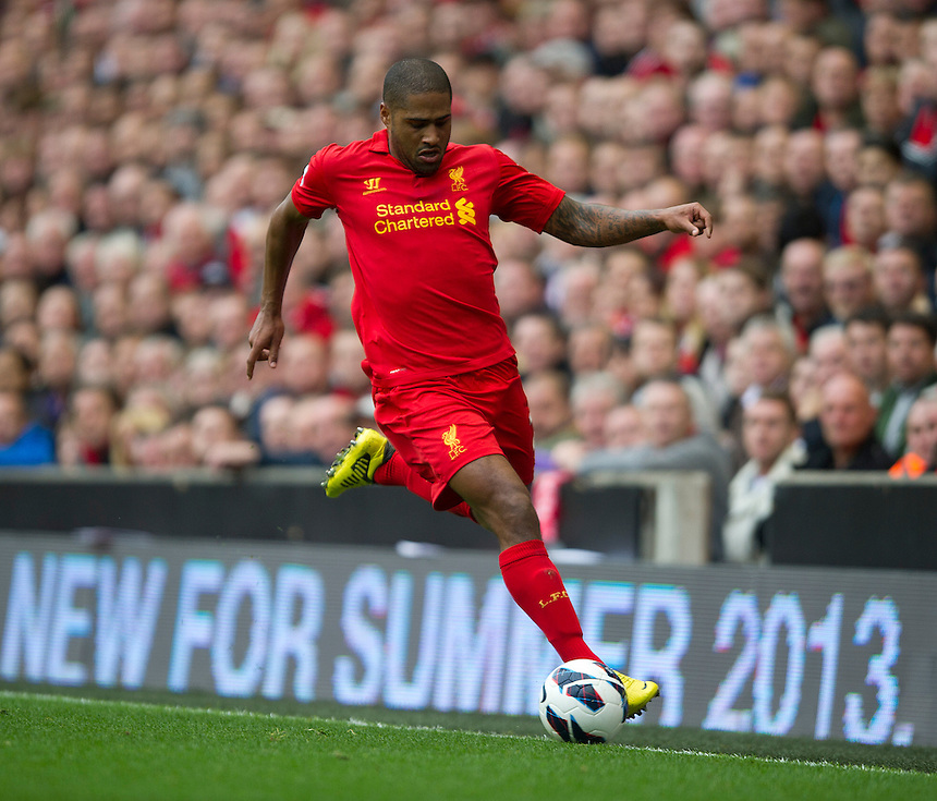 Liverpool's Glen Johnson ..Football - Barclays Premiership - Liverpool v Manchester United - Sunday 23rd September 2012 - Anfield - Liverpool..