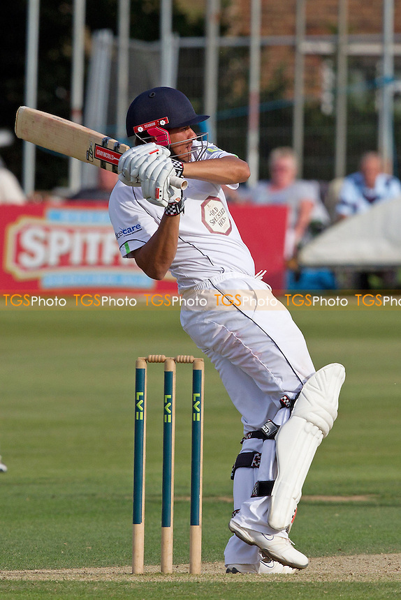 Usman Khawaja, Derbyshire CCC pulls a short delivery to the square leg boundary - Kent CCC vs Derbyshire CCC - LV County Championship Division Two Cricket at the St Lawrence Ground, Canterbury - 06/09/12 - MANDATORY CREDIT: Ray Lawrence/TGSPHOTO - Self billing applies where appropriate - 0845 094 6026 - contact@tgsphoto.co.uk - NO UNPAID USE.