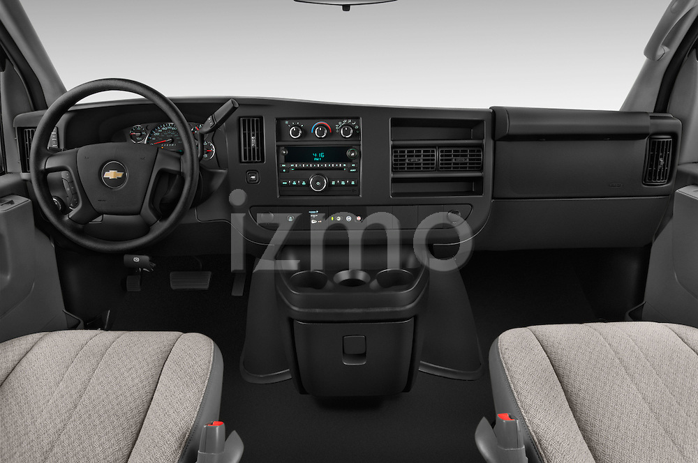 Stock photo of straight dashboard view of a 2014 Chevrolet Express 2500 LS 2 Door Van